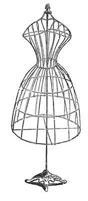 Vintage Image Download - Antique Wire Dress Form - The Graphics Fairy