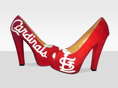 St. Louis Cardinals Pumps...oh @Colleen Clark, if only you hadn't already bought your wedding shoes;-)