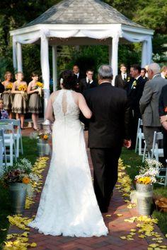 #gardenweddings #gazebo  http://alexanderhomesteadweddings.com/