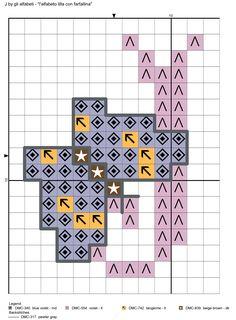 alfabeto lilla con farfallina J