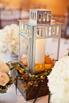 Lantern Centerpiece, bridal shower.