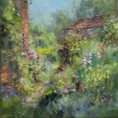 British Artist Rex PRESTON - Cottage Garden