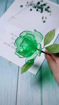 Paper Flowers Craft, Paper Crafts Origami, Origami Art, Diy Flowers, Origami Flowers, Plastic Bottle Crafts Flowers, Paper Bag Crafts, Flower Crafts, Diy Crafts Hacks