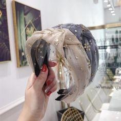 2020 New Fashion Lace Crystal Flower Hairband Rhinestone Headband For Women Knot Hair Band Hair Accessories Hairband, Rhinestone Headband, Wide Headband, Knot Headband, Headband Hairstyles, Diy Hairstyles, Hair Band For Girl, Girl Hair, Bohemian Headband