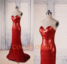 Red Sequins Lace Mermaid Long Prom Dresses ,Fashion Evening Dresses ,Formal Party Dresses,Beaded Red Carpet Dresses , Wedding Party Dresses by cocohouse on Etsy https://www.etsy.com/listing/207820925/red-sequins-lace-mermaid-long-prom