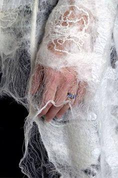 Fashion Tips Hijab .Fashion Tips Hijab Textile Texture, Fabric Textures, Nuno Felting, Needle Felting, Fabric Manipulation Techniques, Textiles Techniques, Design Textile, Textile Artists, Felt Art