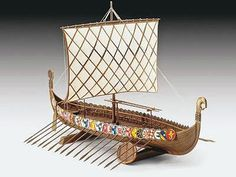 Aoshima Viking Ship 9th Century -- Plastic Model Sailing Ship Kit -- 1/350 Scale -- #43172