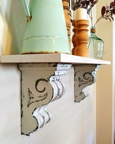 wooden home accessories Wooden Corbel Distressed Corbel White Corbels Wall Sconces Yellow Home Accessories, Home Interior Accessories, Accessories Online, Fall Home Decor, Cheap Home Decor, Wooden Corbels, Kitchen Wall Shelves, Playroom Decor, Furniture Makeover