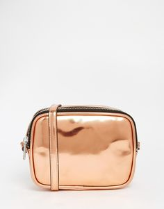 Buy Monki Bronze Metallic Cross Body Bag at ASOS. Get the latest trends with ASOS now. My Bags, Purses And Bags, Bags 2015, Metallic Handbags, Shoulder Strap Bag, Luxury Handbags, Women's Handbags, Designer Handbags, White Handbag