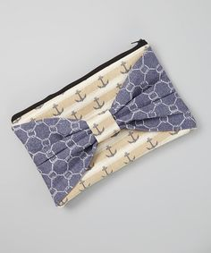 Loving this Blue & Cream Anchor Knot Clutch Diaper Bag on #zulily! #zulilyfinds