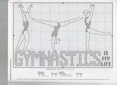 0 point de croix gymnastique - cross stitch gymnastics my life