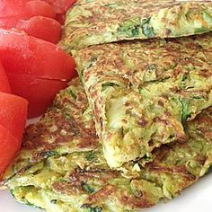 Zucchini and chickpea pancakes