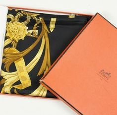 Hermes Vintage Silk Scarf With Box $500