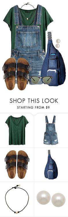 Good morning!!! by annaewakefield ❤ liked on Polyvore featuring HM, Birkenstock, Kavu, Honora and Ray-Ban