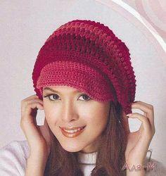256aaa29336bd 6 crochet hats with diagrams - newsboy type caps. Nara Martins de Macedo