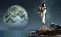 Aquarius, Astrology - Aquarius is the eleventh astrological sign of the Zodiac. Its symbol is the water carrier, here depicted as a lovely woman carrying an urn. Aquarius Art, Astrology Aquarius, Aquarius Traits, Age Of Aquarius, Astrology Signs, Astrological Sign, Aquarius Symbol, Aquarius Tattoo, Pisces