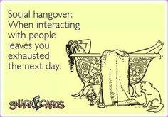 Social hangover TOTALLY TRUE IN MYALGIC ENCEPHALOMYELITIS