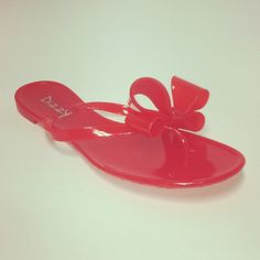 These look like the Valentino flip flops I wanted for ONLY $28!  Women's Jelly Bow Sandals in Red