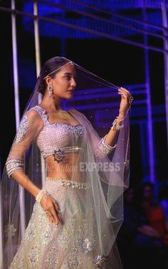 Lisa Haydon for Tarun Tahiliani at the Aamby Valley India Bridal Fashion Week, 2013 https://www.facebook.com/TarunTahiliani