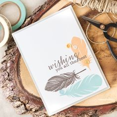 A feather to me symbolises strength and hope. They do make great images for guy cards too. Find out more by clicking on the following link: http://limedoodledesign.com/2016/07/the-symbolism-of-a-feather/