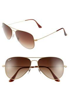 Women's Ray-Ban 58mm Steel Aviator Sunglasses