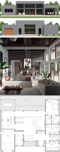 New house plans architecture layout 36 ideas Contemporary House Plans, Modern House Plans, Small House Plans, Modern House Design, Home Design, Best House Plans, Dream House Plans, House Floor Plans, Modern Architecture House