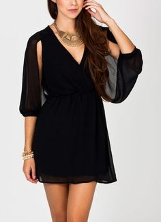 open sleeve dress