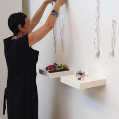 It is install day here at BMG! Linda van Niekerk placing her work for the exhibition '10 Years On'. Sow on view starting at 11am tomorrow morning.