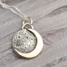 Crescent moon necklace with hand engraving and birthstone. Celestial jewelry by Stacey Fay Designs Dainty Gold Necklace, Moon Necklace, Mom Jewelry, Fine Jewelry, Meaningful Necklace, Accesorios Casual, Gold Pendant, Diamond Pendant, Girl Gifts