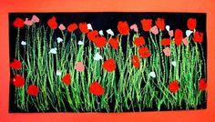 """Artsonia Art Museum :: """"Poppy Field"""" by Dawud5"""