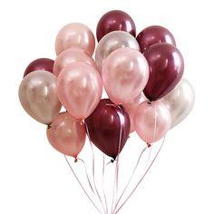 Burgundy Rose Gold Latex Balloon, Rose Gold Balloons, Rose Gold Confetti Balloon for Burgundy Wedding Baby Shower Birthday Christmas Decor Balloon Arch Diy, Paper Balloon, Balloon Decorations, Birthday Party Decorations, Glitter Balloons, Gold Confetti Balloons, Latex Balloons, Deco Ballon, Gold Party
