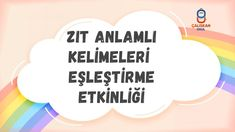 ZIT ANLAMLI KELİMELER EŞLEŞTİRME ETKİNLİĞİ Youtube, Home Decor, Decoration Home, Room Decor, Home Interior Design, Youtubers, Youtube Movies, Home Decoration, Interior Design