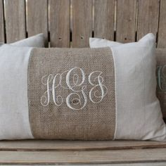 Image result for patio monogrammed pillow
