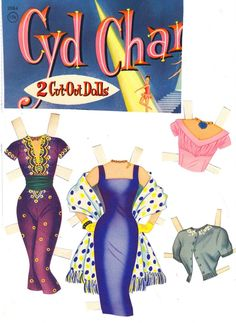 Cyd Charisse* 1500 free paper dolls The International Paper Doll Society Arielle Gabriel artist #QuanYin5 Twitter, Linked In QuanYin5 *