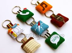 iPhone icons felt Keychain by rabbitrampage - Broodr