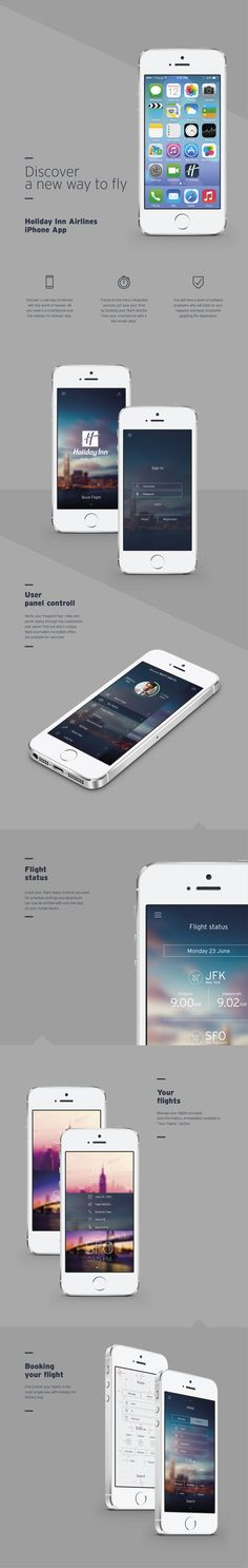 Holiday Inn Airlines | via Behance . UX . UI . Brand . Graphic Design . App . iPhone . iOS 7