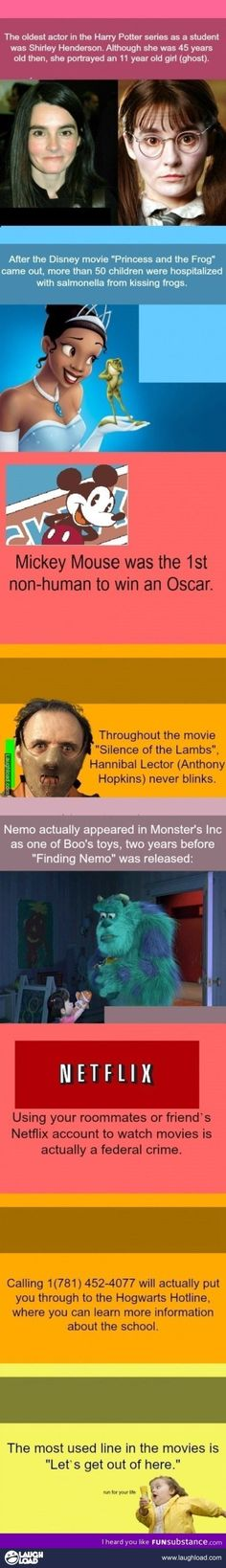 Cool movie facts
