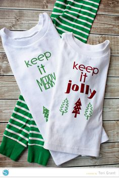 Silhouette America Blog | Keep It Jolly Pajamas (DIY Christmas PJs for your whole family!)