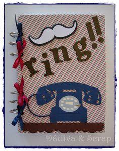 Notebook altered http://unrinconenmibuhardilla.blogspot.com.es/2014/06/ring-ring.html