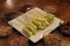 Caramel apple dipping party :)