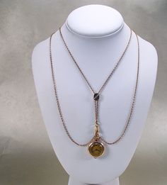 Victorian Opal Slide Watch Chain Necklace