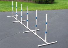 For the D-I-Y ( Do It Yourself ) individual, this kit includes all the materials except the PVC pipe necessary to build a a set of Dog Agility Weave Poles. Agility Training For Dogs, Dog Training Courses, Training Your Puppy, Dog Agility, Dog Training Tips, Potty Training, Training Online, Training Videos, Leash Training