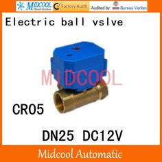 """21.89$  Buy here - """"Brass Motorized Ball Valve 1"""""""" DN25 Water control Angle valve DC12V electrical ball (two-way) valve wires CR-05""""  #buymethat"""
