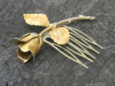 Vintage Gold Rose Hair Comb  Wedding or by Gener8tionsCre8tions, $50.00