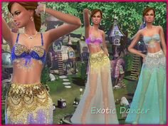 Exotic Dancer Clothes by alin2 at TSR via Sims 4 Updates