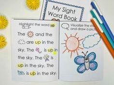 """""""This is my new favorite sight word practice. I love that they get to practice their sight words and also get to follow directions. I use it whenever we have a new sight word."""" ~Jennifer M. """"This is a fantastic resource to own. I like that it includes having the students visualize the passage in the mini book, since this takes practice for young students. The text is also simple and includes pictures for more challenging words making it accessible to emergent readers."""" ~ Saidi S. Sight Word Booklets, Sight Words Printables, Vocabulary Building, Vocabulary Activities, Sight Word Practice, Writing Practice, Emergent Readers, 100 Words, Reading Fluency"""