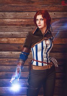 Triss Merigold costume cosplay the witcher hunt sorceress witch charmer character of Maribor andrzej sapkowski adult female for women Video Game Cosplay, Epic Cosplay, Amazing Cosplay, Cosplay Girls, Cosplay Costumes, Female Cosplay, Triss Merigold Cosplay, Triss Cosplay, The Witcher