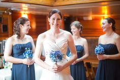 Blue and White #nautical #weddings #tallships #LibertyClipper