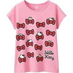 GIRLS SANRIO SHORT SLEEVE GRAPHIC T-SHIRT, PINK, medium