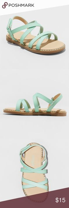 da07fa9ba883 Toddler Girls  Darcie Slide Sandals -MINT Cat jack Sandals with  hook-and-loop